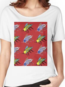 'Bees in red' design my LUCILLE Women's Relaxed Fit T-Shirt