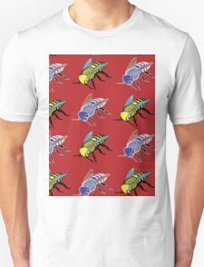 'Bees in red' design my LUCILLE Unisex T-Shirt