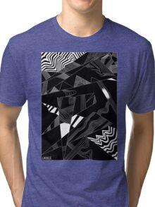 'Line Composition' design by LUCILLE Tri-blend T-Shirt