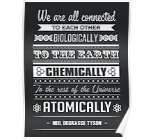 We Are All Connected [White] Poster