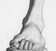 The foot of Germanicus by Stevie the floating artist