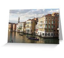 Gondolas on the Grand Canal, Venice Greeting Card