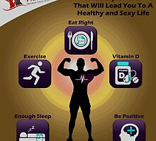 Live A Healthy And Happy Life -  Fitness OPT Infographic by smithdiana594