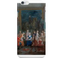 MUSICAL TEA PARTY WITH EQUESTRIAN PORTRAIT OF KING GEORGE II iPhone Case/Skin
