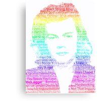 Rainbow Harry Styles - One Direction Canvas Print