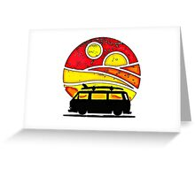 Sunset wedge Greeting Card