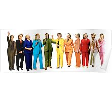 Hilary's Rainbow Pantsuits  Poster