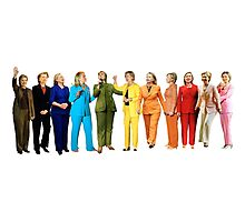 Hilary's Rainbow Pantsuits  Photographic Print