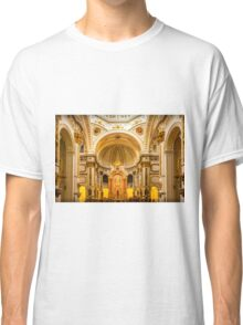 Inside the church of La Mare de Déu del Consol Classic T-Shirt