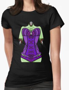 Corset Zombie Womens Fitted T-Shirt