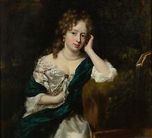 Nicolaes Maes PORTRAIT OF A LADY SEATED BY A FOUNTAIN by Adam Asar