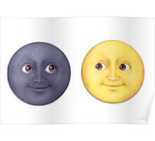 Moon and Sun Poster