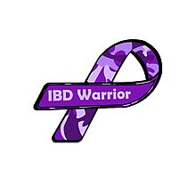IBD Warrior camo Ribbon BLK Photographic Print