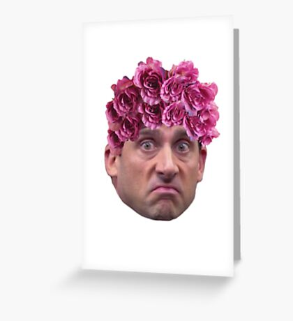 Michael Scott Flower Crown Greeting Card