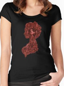 Pride + Prejudice + Zombies movie comedy horror logo Elizabeth Bennet   Women's Fitted Scoop T-Shirt