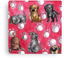 Chibi dog breeds - Corso Canvas Print