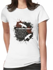 Crows Before Hoes - GoT Womens Fitted T-Shirt