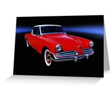 1953 Studebaker Commander V8 Greeting Card
