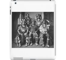 Oto delegation of five wearing claw necklaces and fur turbans. iPad Case/Skin