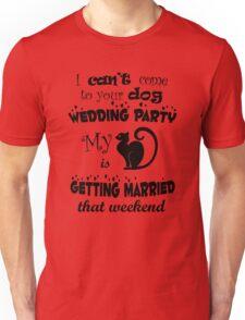 Cat wedding party Unisex T-Shirt