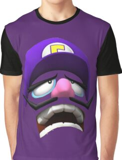 Waluigi Face Graphic T-Shirt