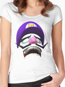 Waluigi Face Women's Fitted Scoop T-Shirt