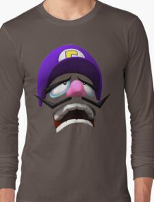 Waluigi Face Long Sleeve T-Shirt
