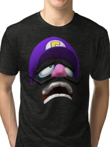Waluigi Face Tri-blend T-Shirt