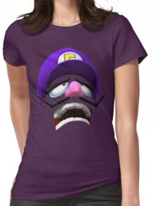 Waluigi Face Womens Fitted T-Shirt