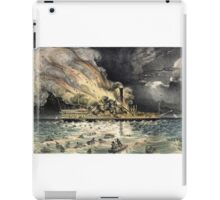 Awful conflagration of the steam boat Lexington - 1840 - Currier & Ives iPad Case/Skin