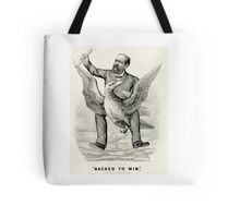 Backed to win - 1880 - Currier & Ives Tote Bag