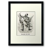 Backed to win - 1880 - Currier & Ives Framed Print