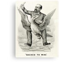 Backed to win - 1880 - Currier & Ives Canvas Print