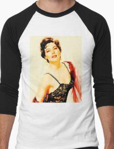 Ava Gardner by John Springfield Men's Baseball ¾ T-Shirt