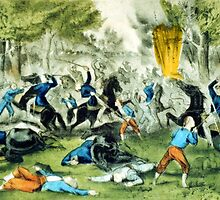 Battle of Bull Run - 1861 - Currier & Ives by CrankyOldDude