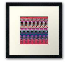Waves and other shapes Framed Print