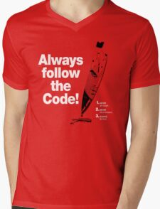 Dexter 'Always Follow The Code!' Mens V-Neck T-Shirt