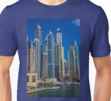 United Arab Emirates. Dubai. Dubai Marina. Skyscrapers. Unisex T-Shirt
