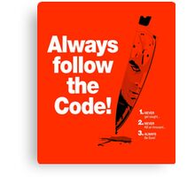 Dexter 'Always Follow The Code!' Canvas Print
