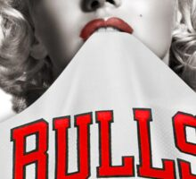 Marilyn 23 Bulls Jersey White Background Sticker