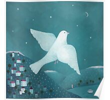 white pigeon Poster