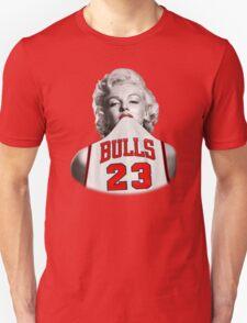 Marilyn 23 Bulls Jersey Black Background T-Shirt