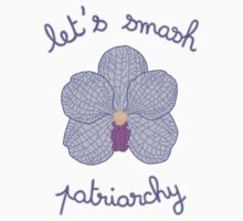 Let's Smash Patriarchy - Purple Orchid Kids Tee