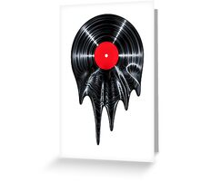 Melting vinyl Greeting Card