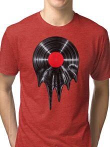 Melting vinyl Tri-blend T-Shirt