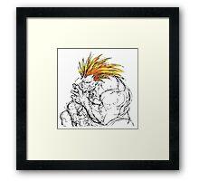 Streetfighter Blanka Framed Print