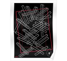 'Dropped Cigarettes' design by LUCILLE Poster