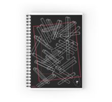 'Dropped Cigarettes' design by LUCILLE Spiral Notebook