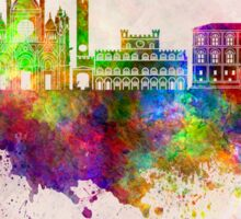 Siena skyline in watercolor background Sticker