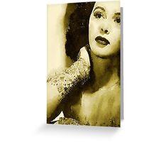 Hedy Lamarr Hollywood Star by John Springfield Greeting Card